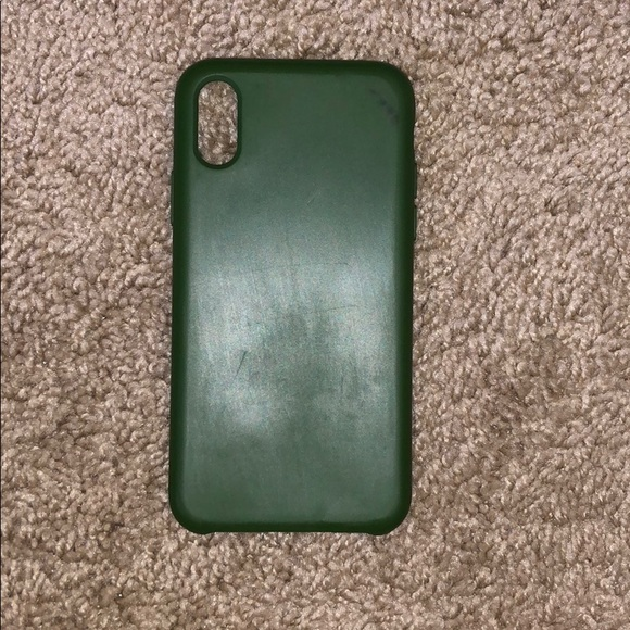 Accessories - CYLO brand silicone army green iPhone X case
